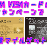 【2018年10月・11月度版】ANA VISA(Master)ゴールドカード発行で最大2万マイル以上ゲット!
